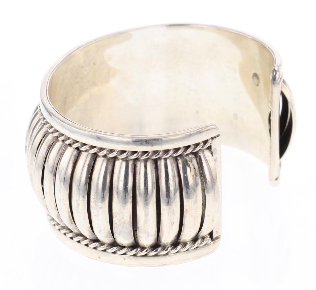 Vintage Jump Ring Row Cuff Bracelet - 2