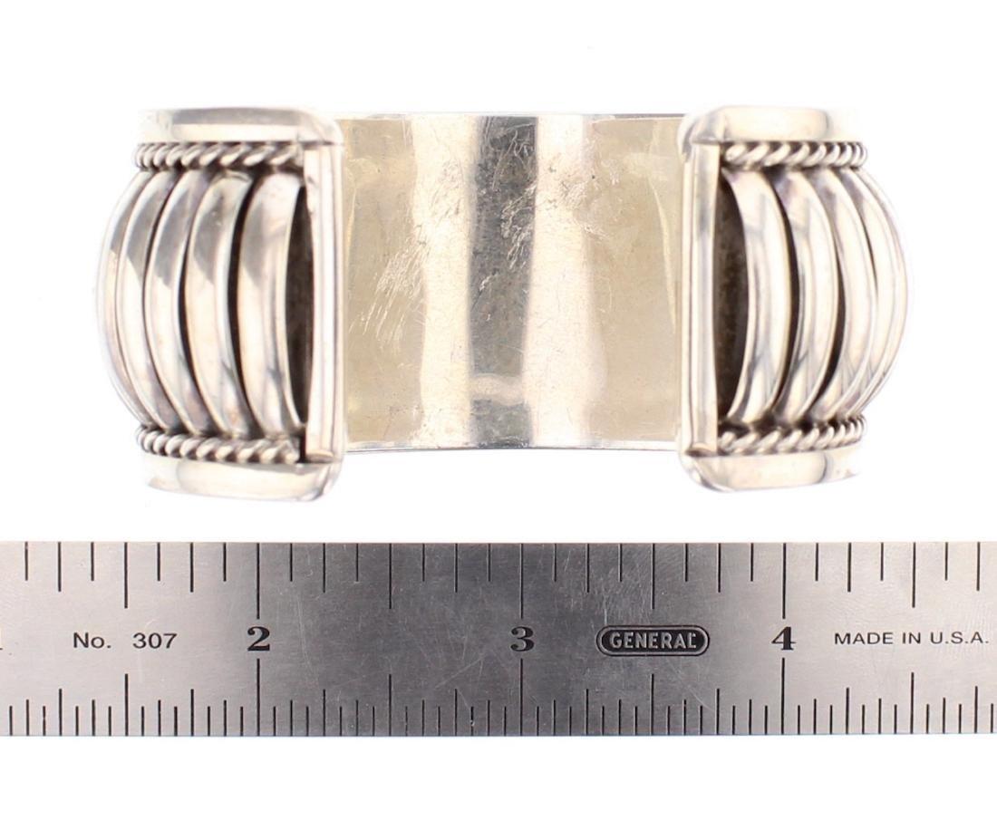 Vintage Jump Ring Row Cuff Bracelet - 3