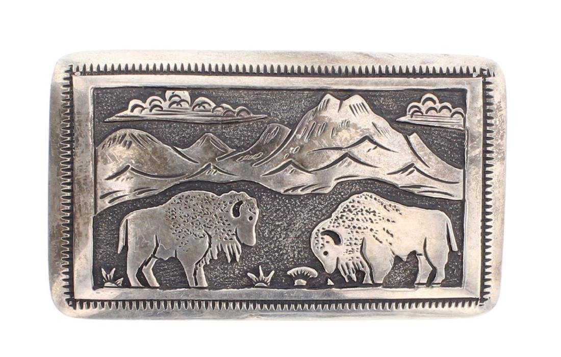 Thomas Singer Vintage Buffalo Mountain Range Overlay