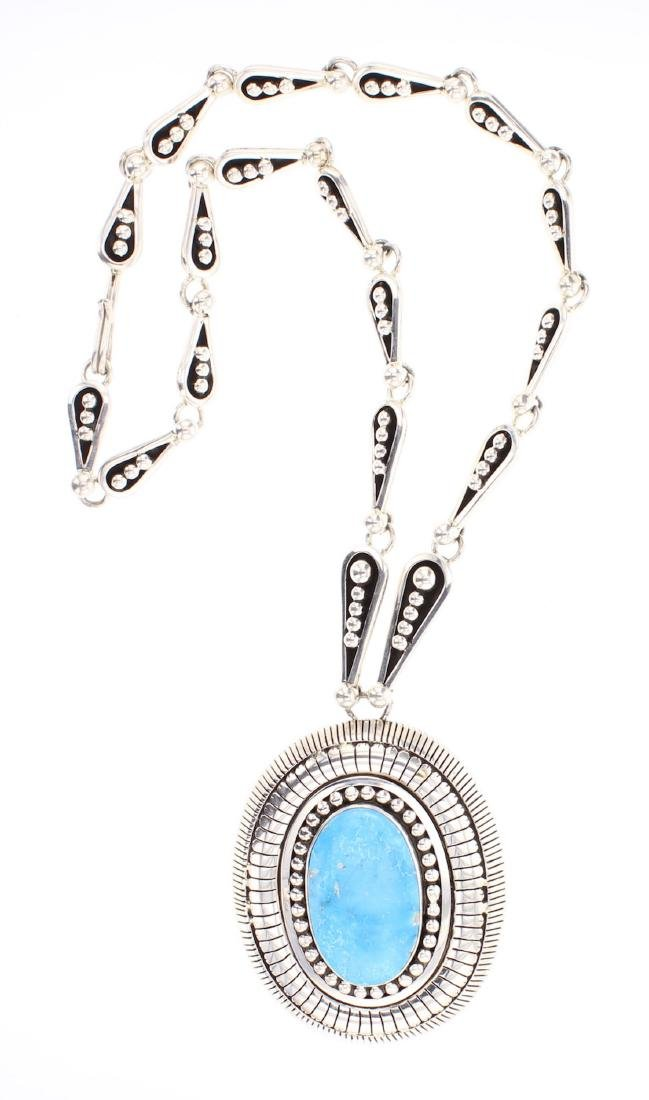 Johnathan Nez Contemporary Stack Overlay Pendant &