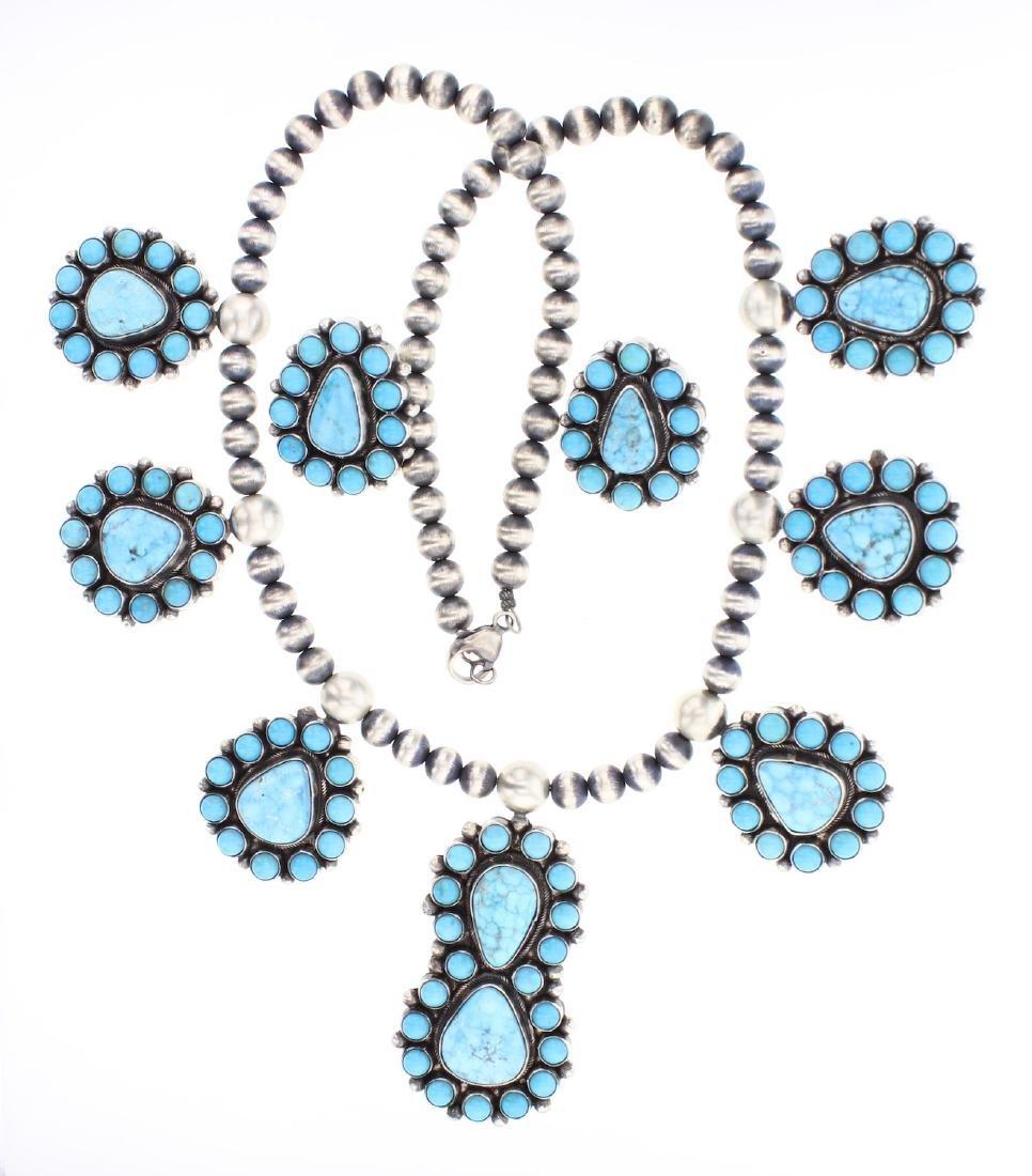Betty Bea Tom Water Web Kingman Turquoise Cluster