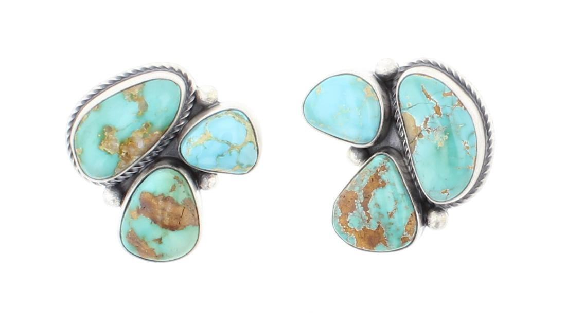Carrico Lake Turquoise Cluster Post Earrings