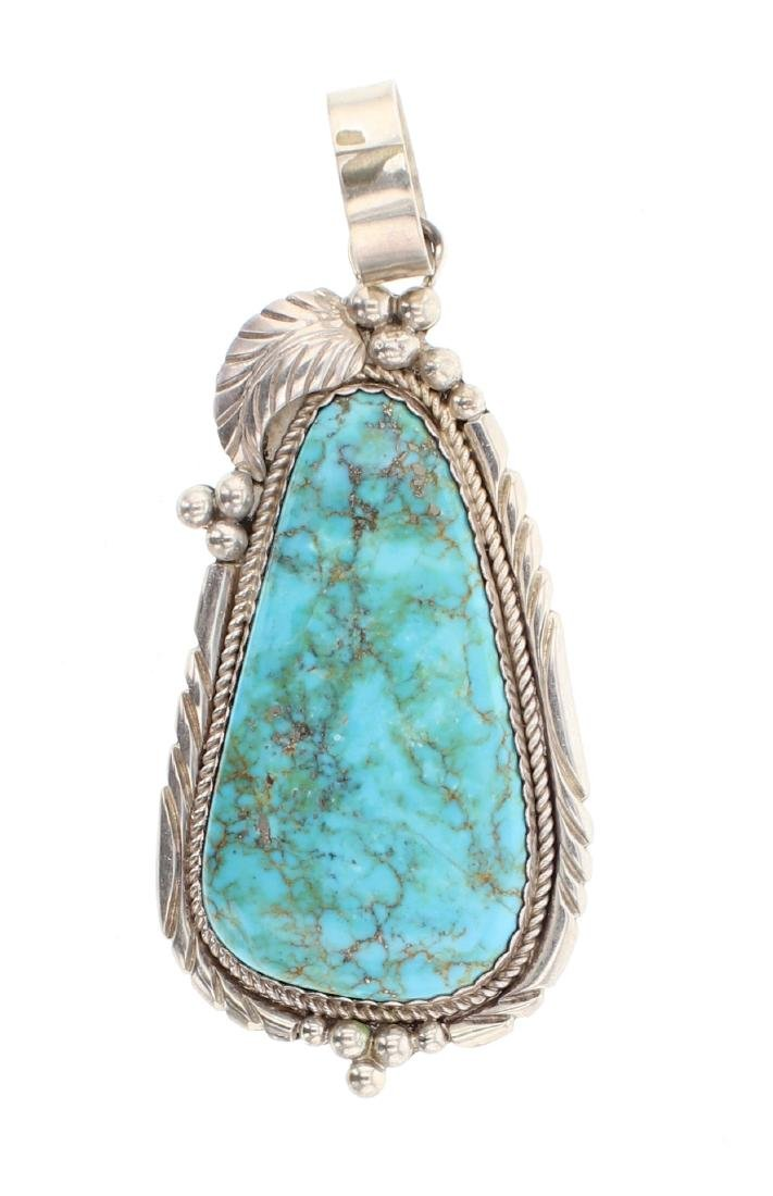 Dave Pino Old Pawn Vintage Turquoise Pendant