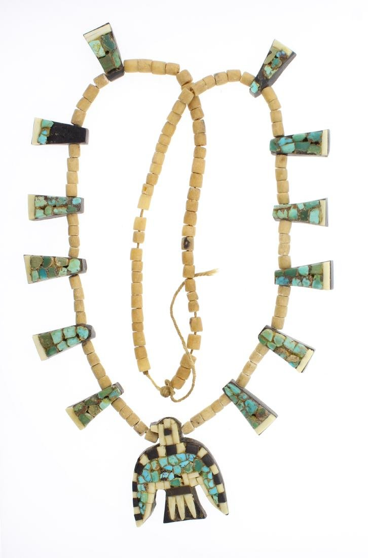Old Pawn Antique Santo Domingo Pueblo Heishe Necklace