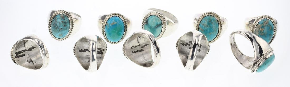 Tom Hasteen Turquoise Rings Lot of 10 - 2