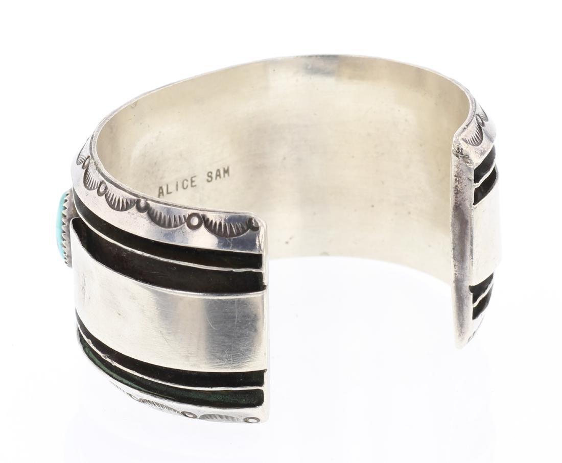 Alice Sam Vintage Turquoise Row Cuff Bracelet - 2