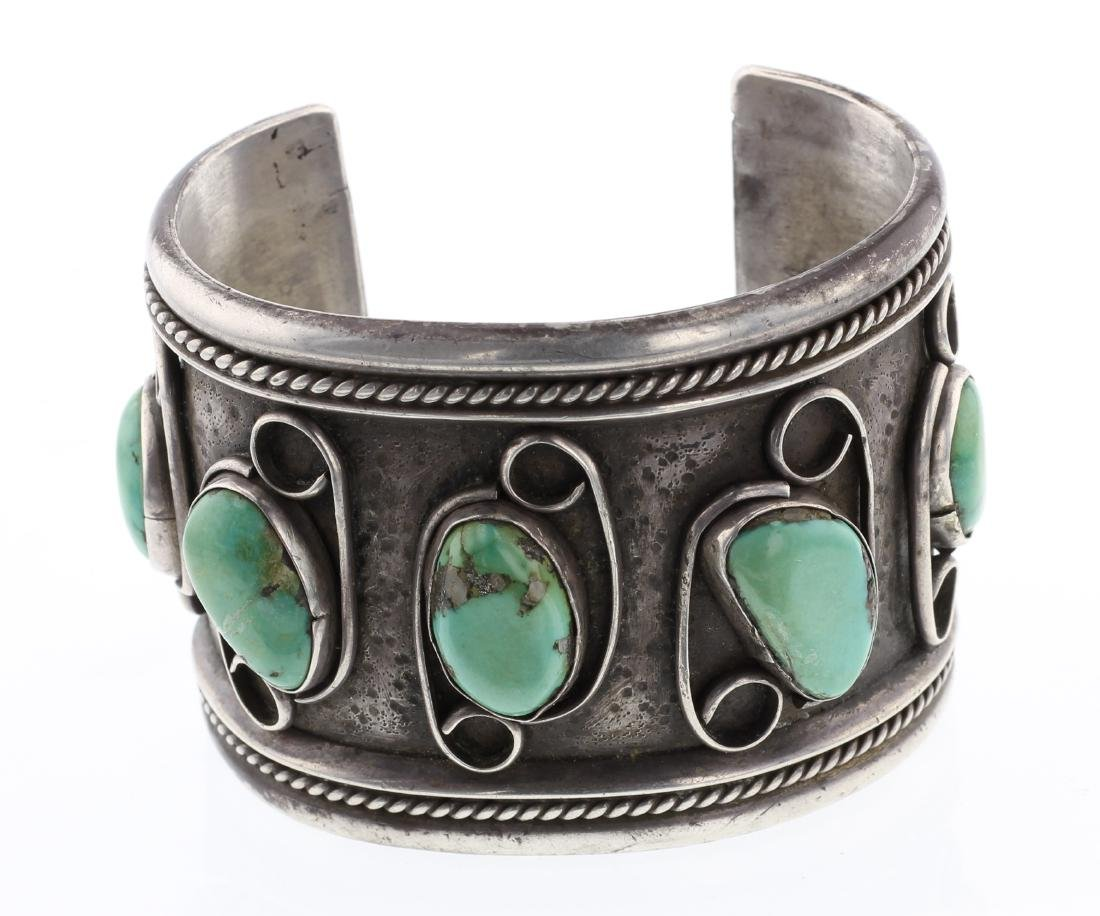 Vintage Royston Turquoise Large Cuff Bracelet