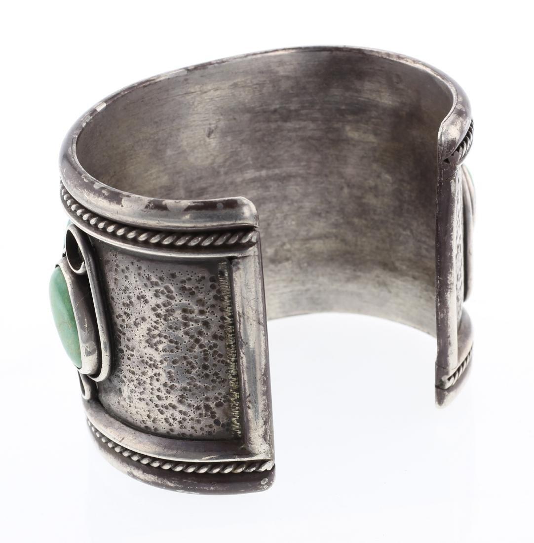 Vintage Royston Turquoise Large Cuff Bracelet - 2