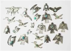 Contemporary Southwest Animal Pin & Pendant Large lot