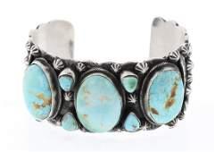 Bobby Johnson Kingman Turquoise Large Stone Drop