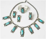 Jimmy Lee Kingman Turquoise Contemporary Bracelet