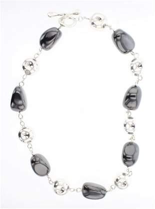 RIM Studio Silver Hematite Necklace