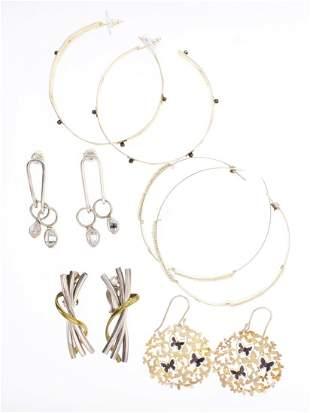 Vintage Sterling Silver Earrings Lot of Five