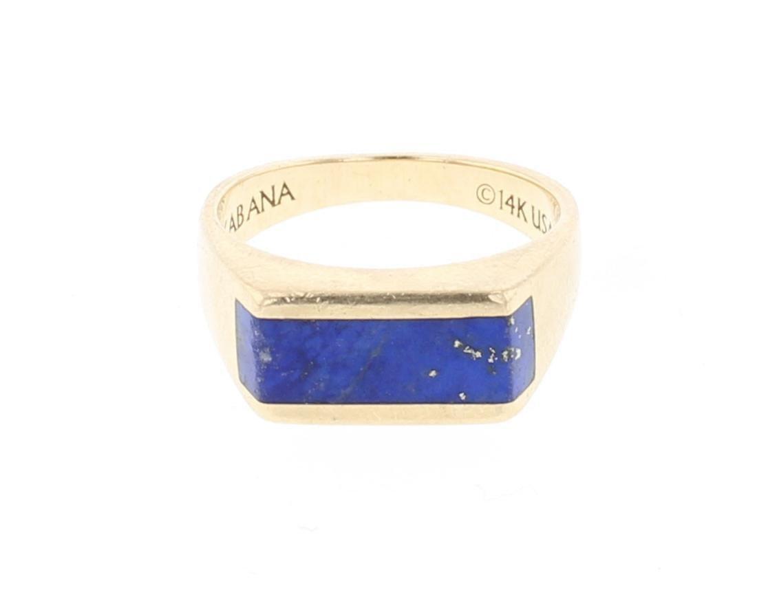 14K Gold Vintage Lapis Ring Kabana