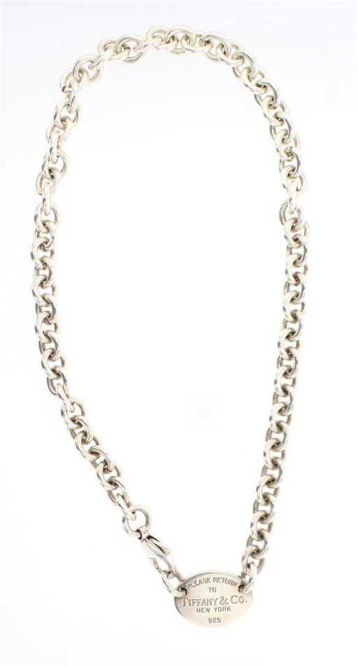 ffb0c256f820f Vintage Tiffany   Co Chain Link Necklace