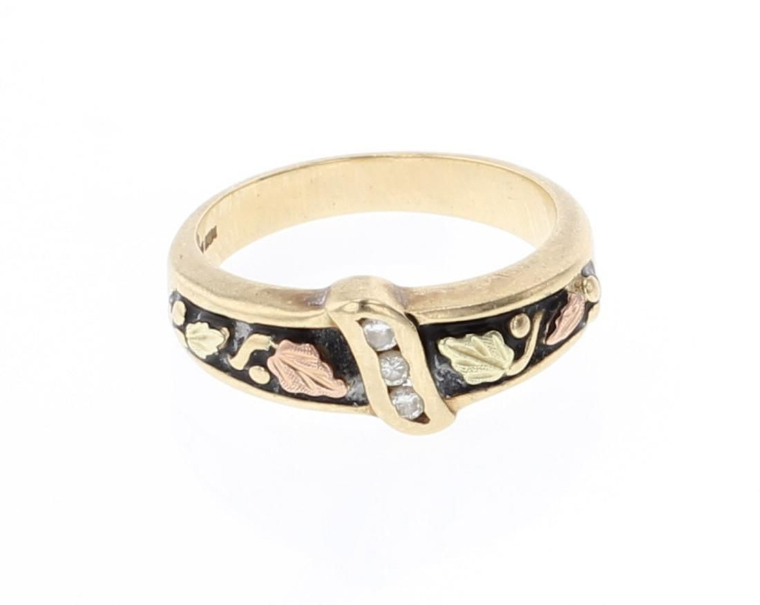 Vintage 10K Gold & Diamond Ring