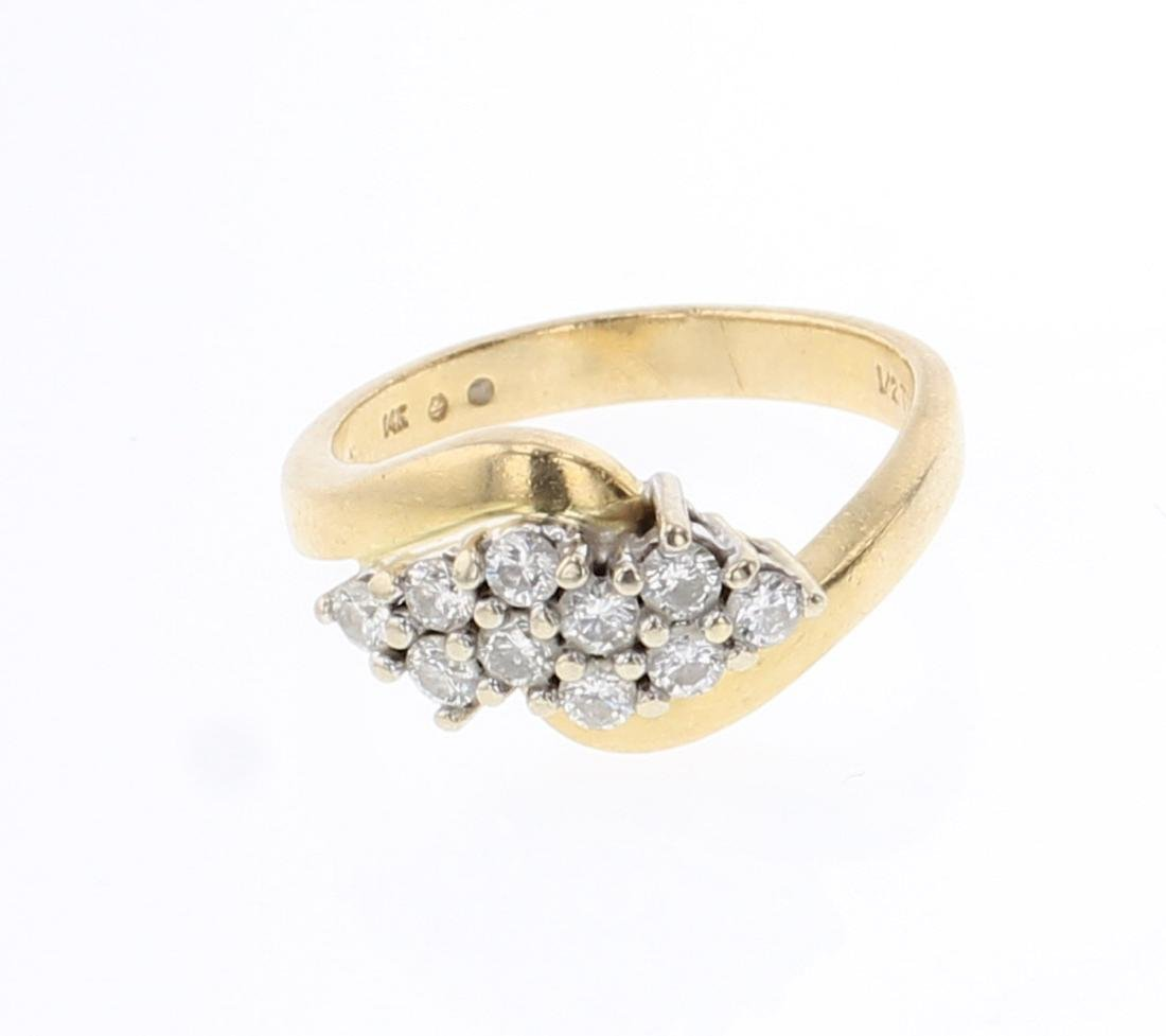 Vintage 14K Gold & Diamonds Ring