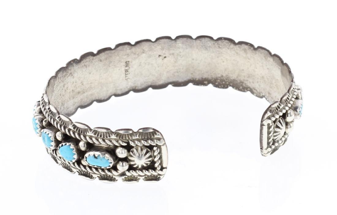 Vintage Turquoise Row Bracelet - 2