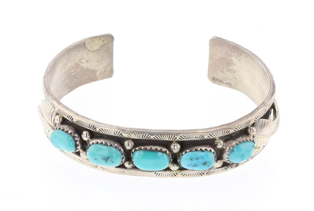 Vintage Freeform Turquoise Bracelet