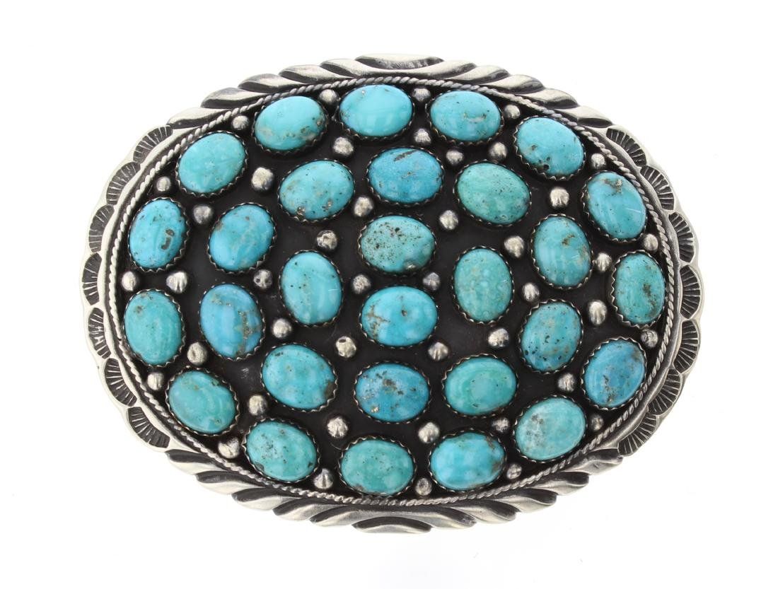 Contemporary  J Emerson Turquoise Belt Buckle
