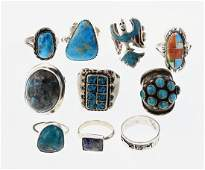 Old Pawn & Vintage Turquoise Rings Large Multi-Piece