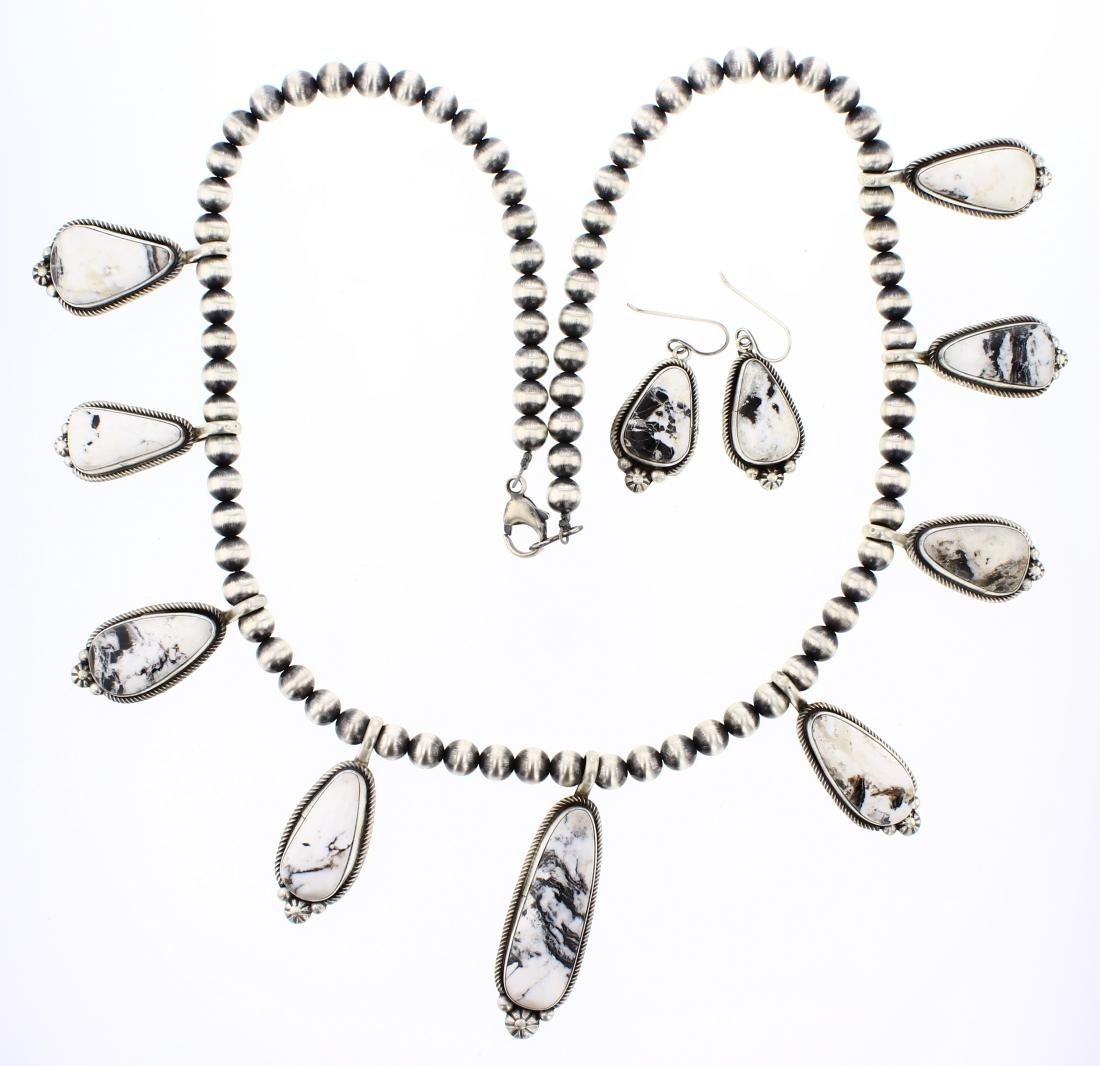 Esther Spencer Contemporary White Buffalo Necklace &