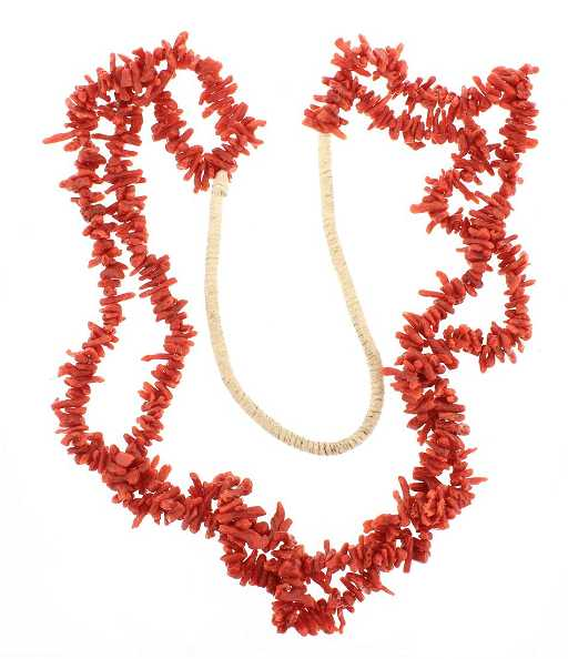 2ae0273427a865 Old Pawn Coral Original Chip Multi Strand Necklace