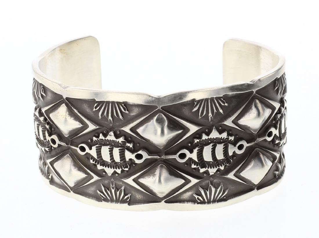 Tahe Heavy Stamp Thick Gauge Bracelet
