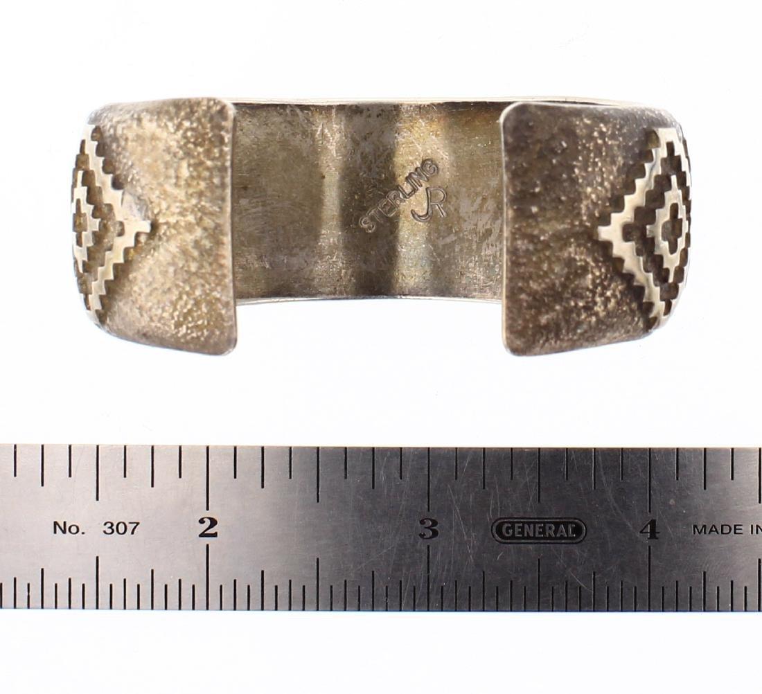 JR Vintage Geometric Overlay Wide Cuff Bracelet - 3