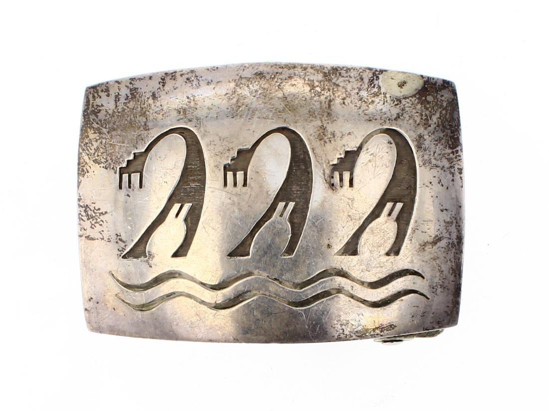 AR Old Pawn Antique Hopi Belt Buckle