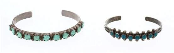 Old Pawn  Navajo  Zuni Row Bracelet Lot of Two
