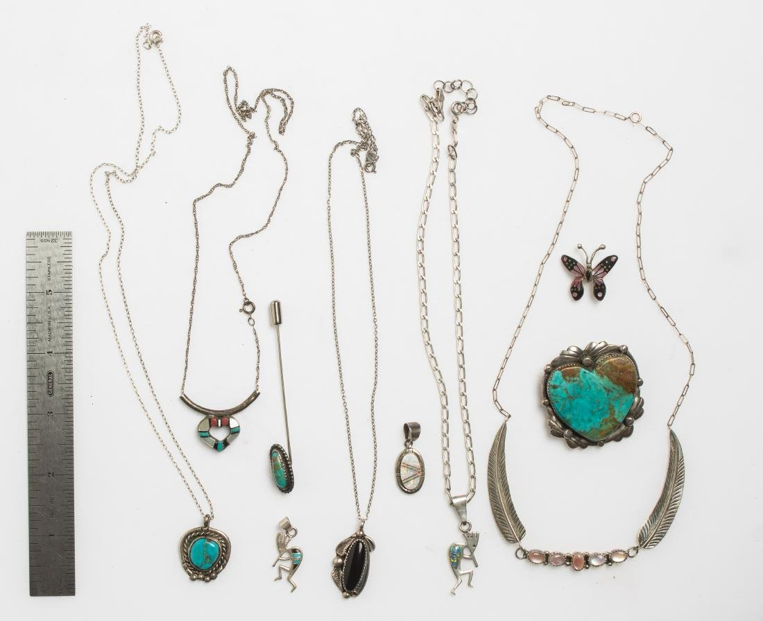 Vintage & Old Pawn Necklace & Pendant Lot of 10  Navajo - 2