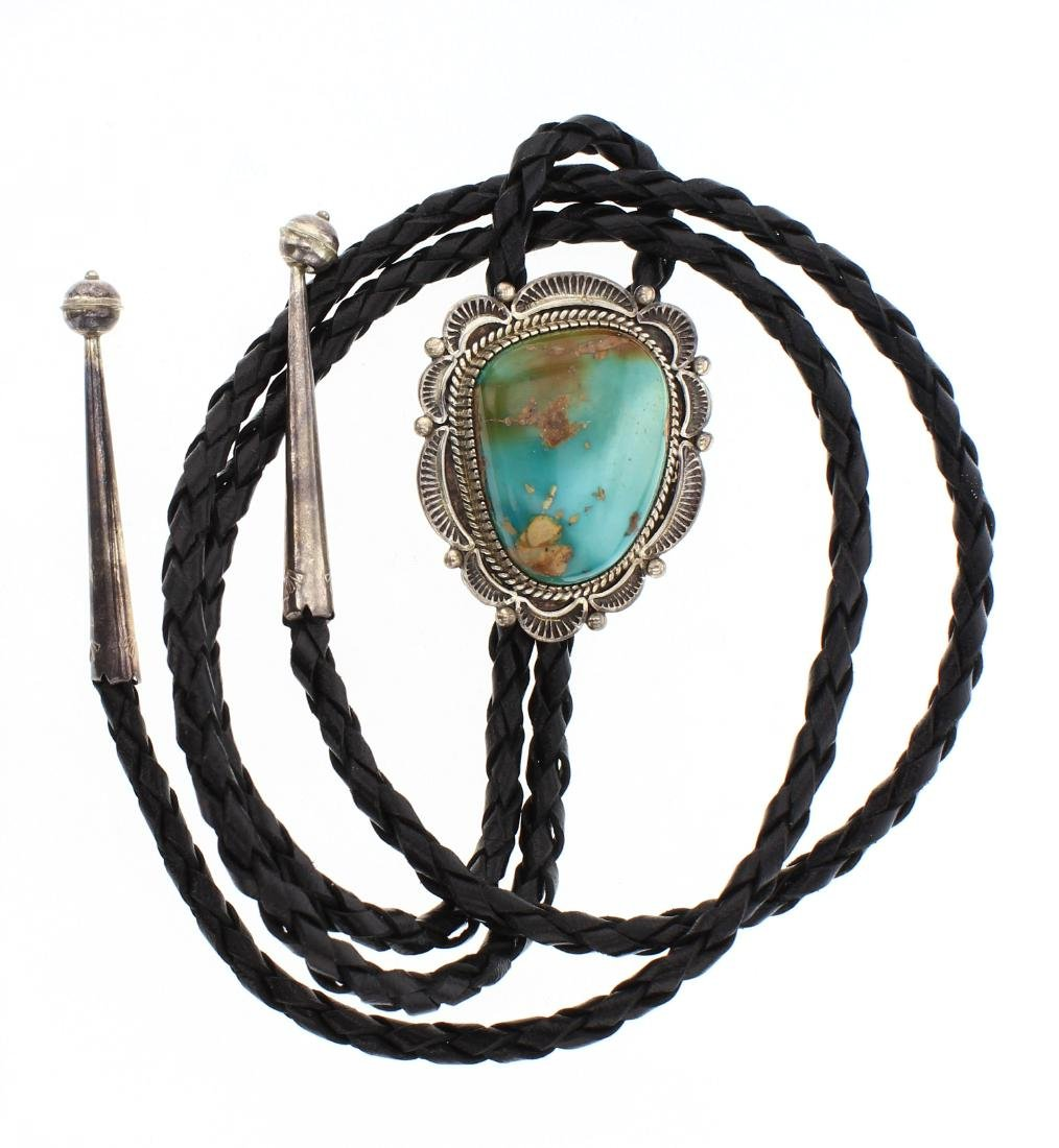 Old Pawn Turquoise Bolo Tie