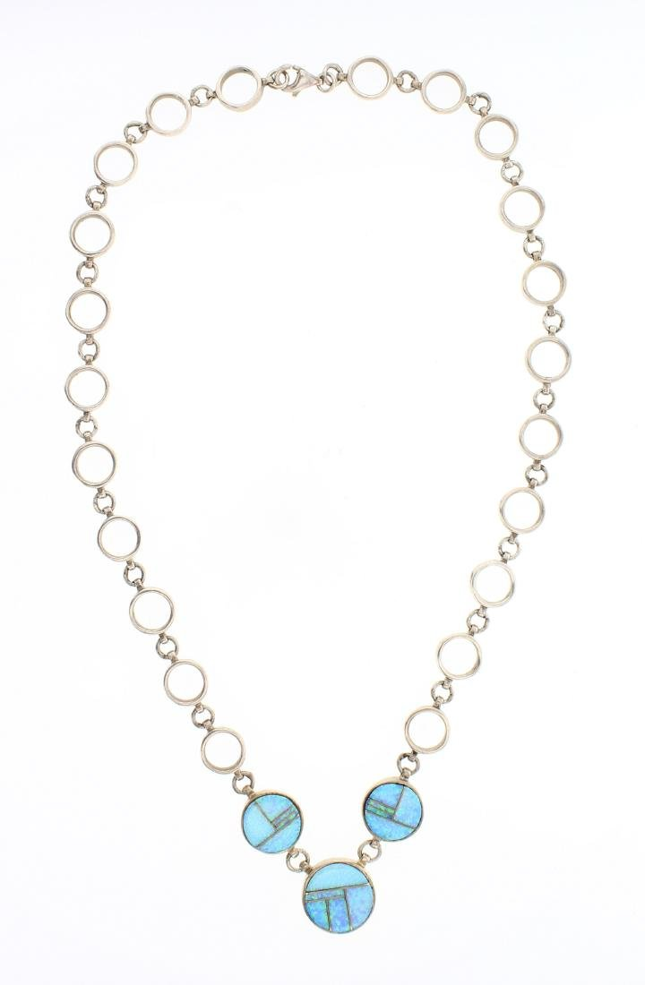 TSF Vintage Opal Inlay Necklace