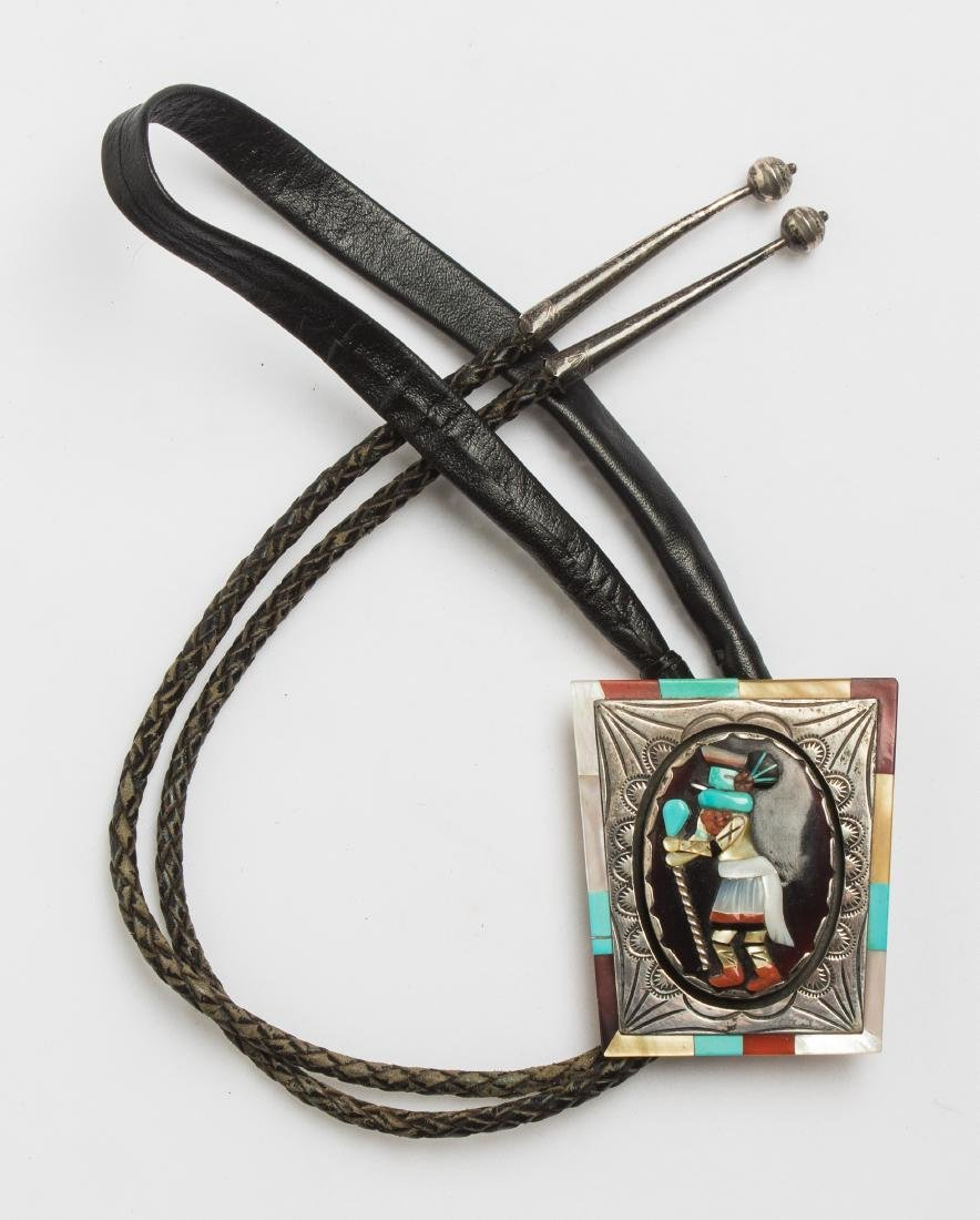 Richard Curely Old Pawn Zuni Inlay Bolo Tie