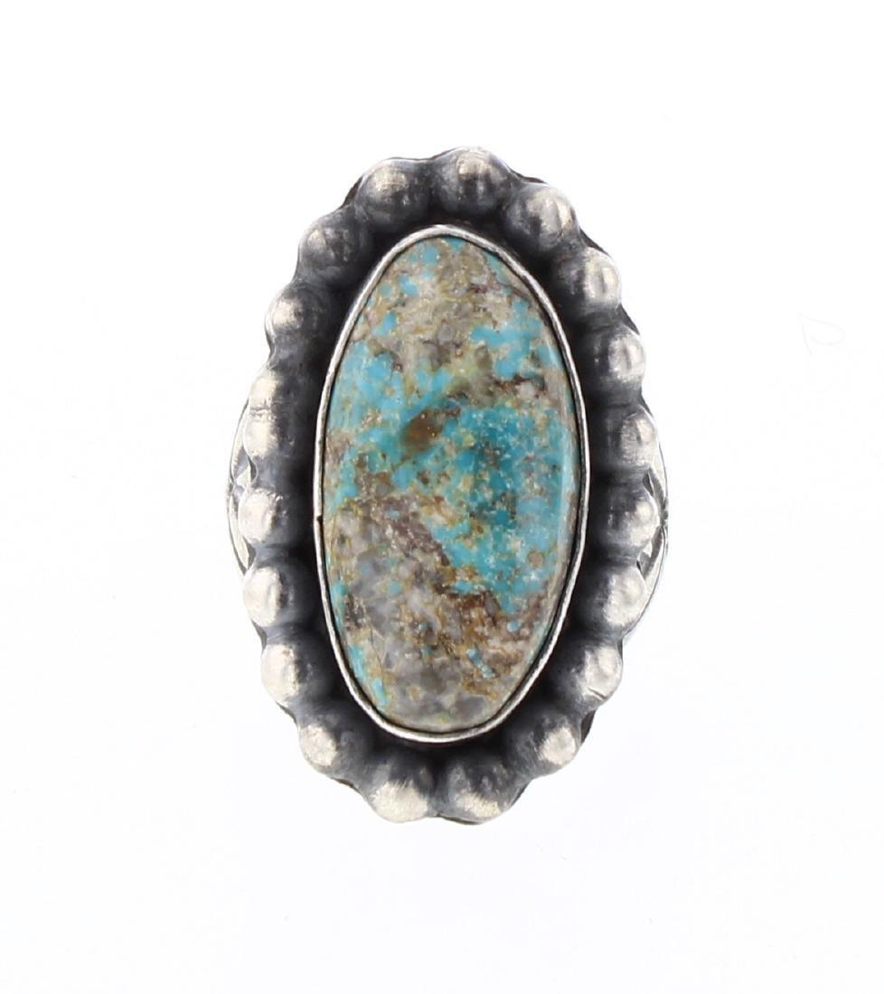 Paul Livingston Turquoise Vintage Drop Ring