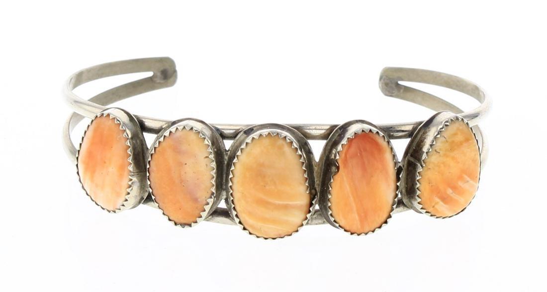 LN Vintage Spiny Freeform Row Cuff Bracelet