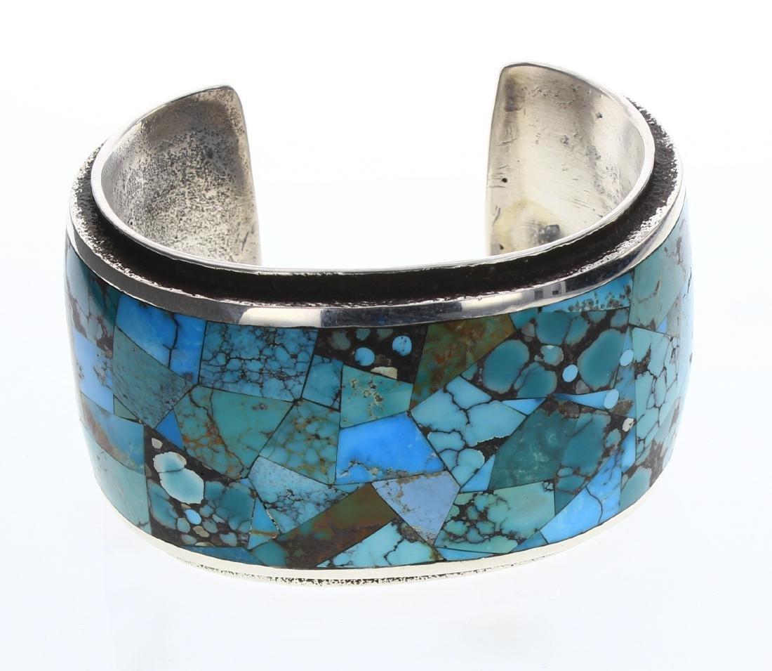 Lester James  Vintage Turquoise Invisible Art Deco
