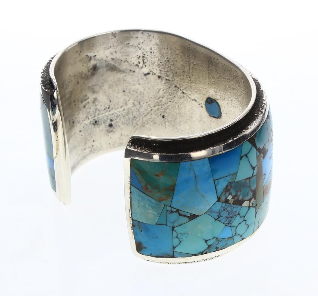 Lester James  Vintage Turquoise Invisible Art Deco - 2
