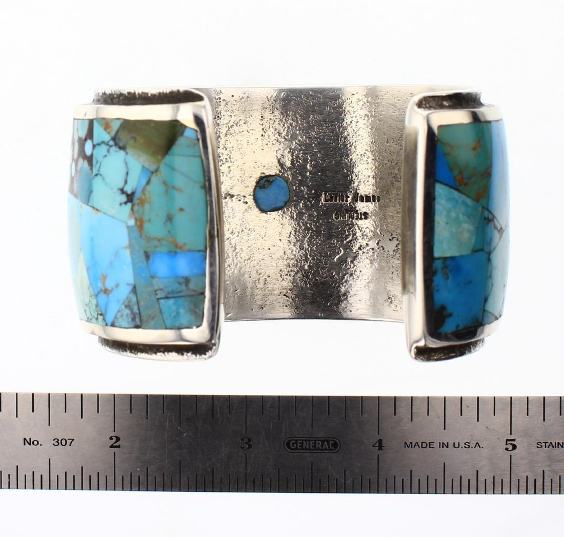 Lester James  Vintage Turquoise Invisible Art Deco - 3