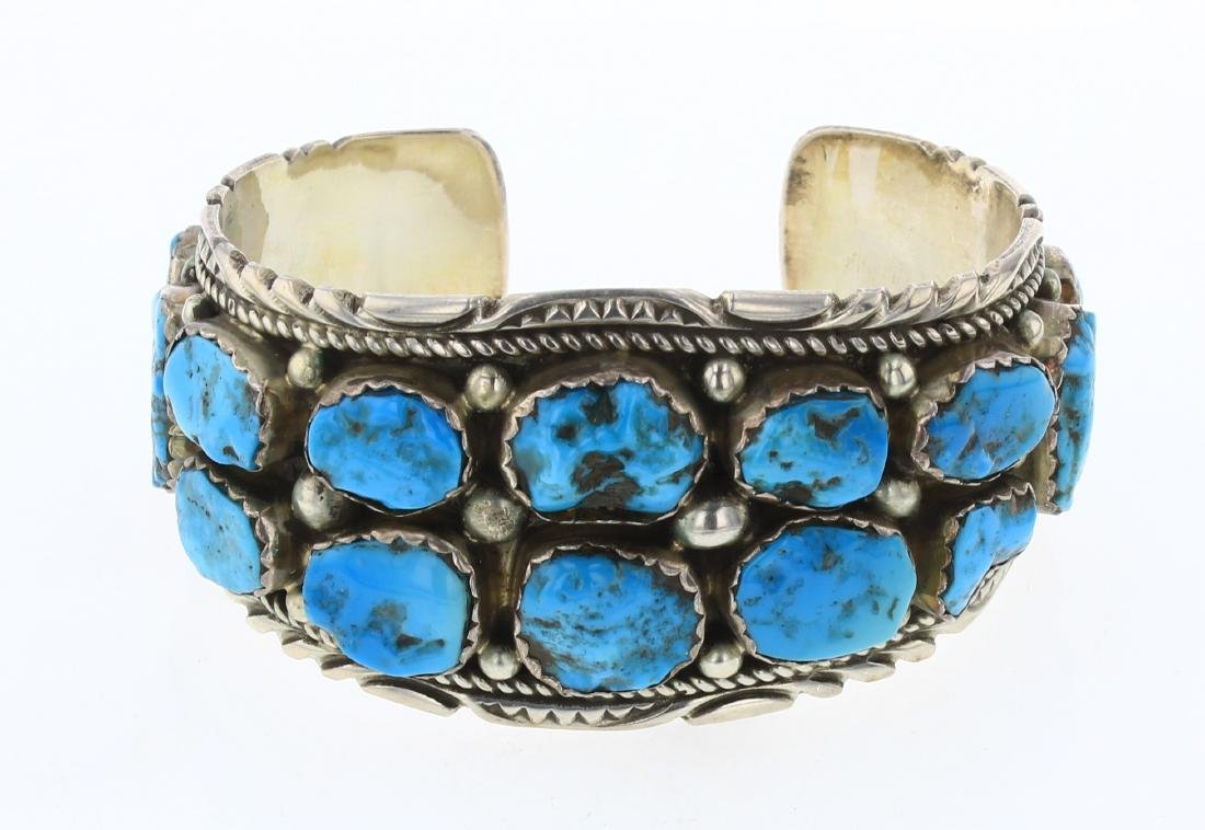 Richard T Thompson Old Pawn Freeform Turquoise Cuff
