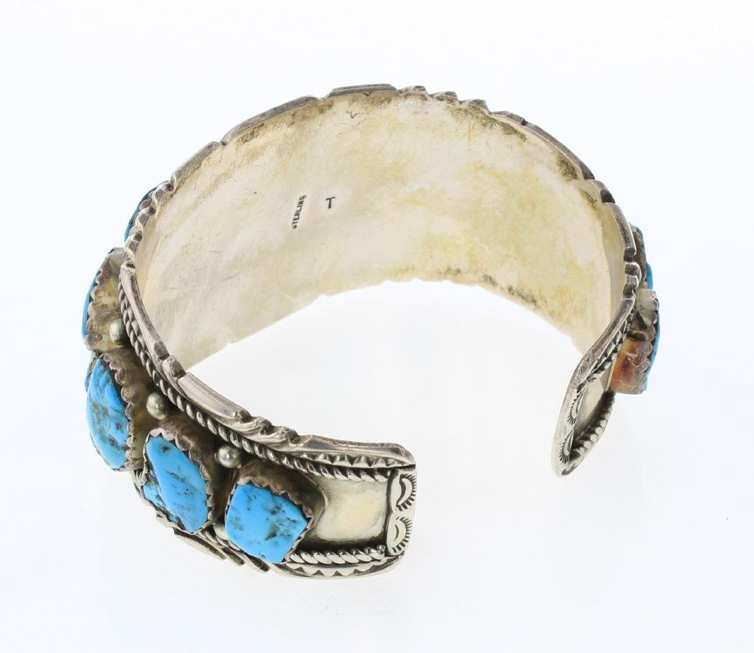 Richard T Thompson Old Pawn Freeform Turquoise Cuff - 2