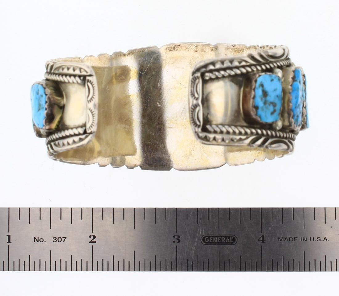 Richard T Thompson Old Pawn Freeform Turquoise Cuff - 3