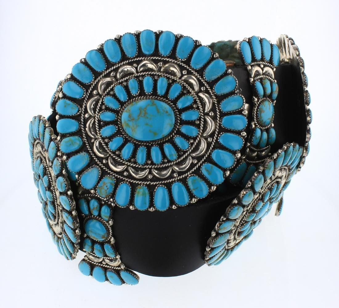 Juliana Williams Vintage Block Turquoise Concho Belt