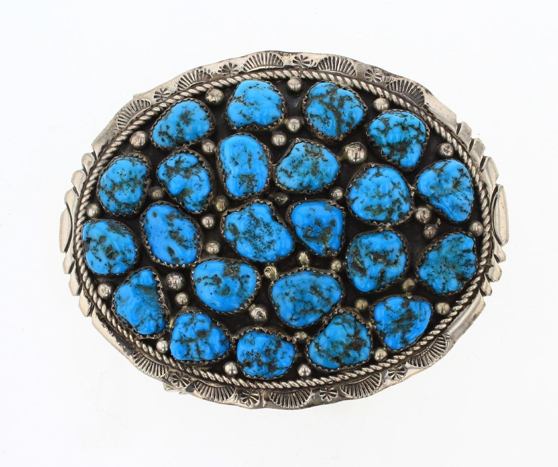 Marlene Jones  Old Pawn Cluster Nugget Belt Buckle