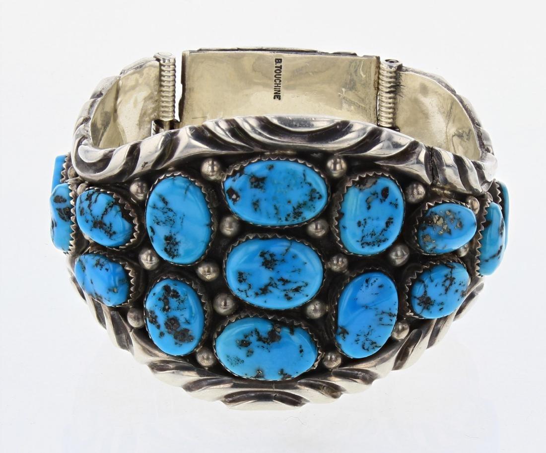 B. Touchine Vintage Turquoise Cluster Bracelet