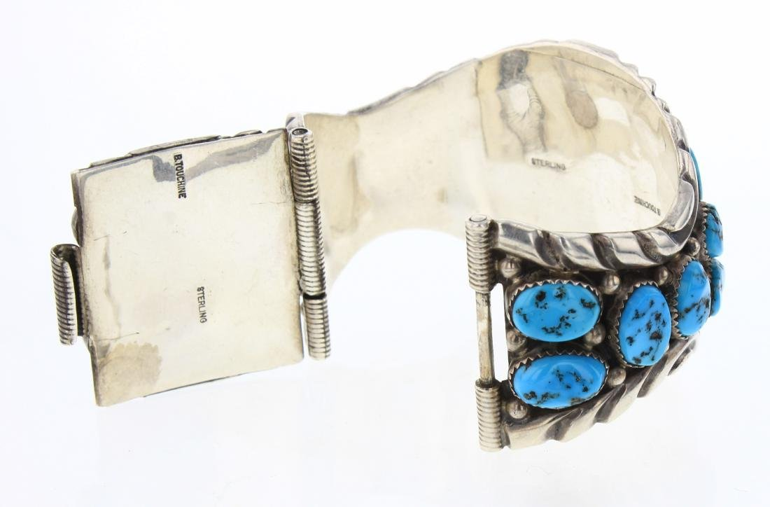 B. Touchine Vintage Turquoise Cluster Bracelet - 2