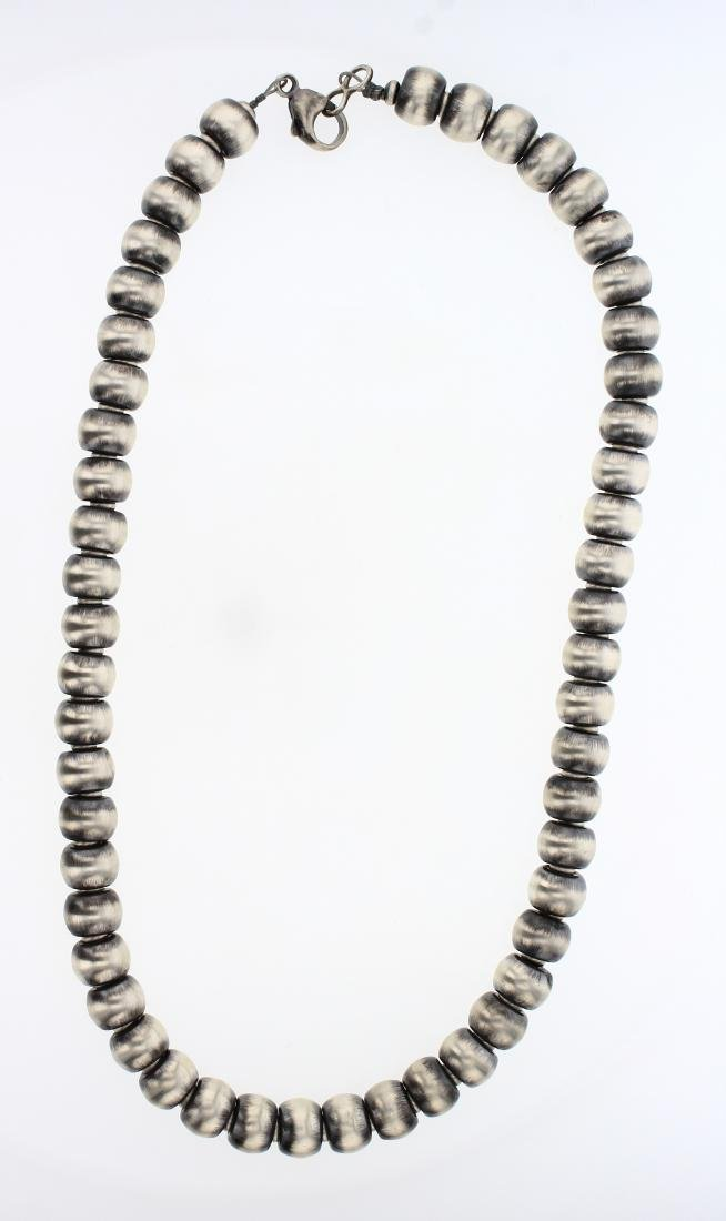 Contemporary Barrel Beads Necklace