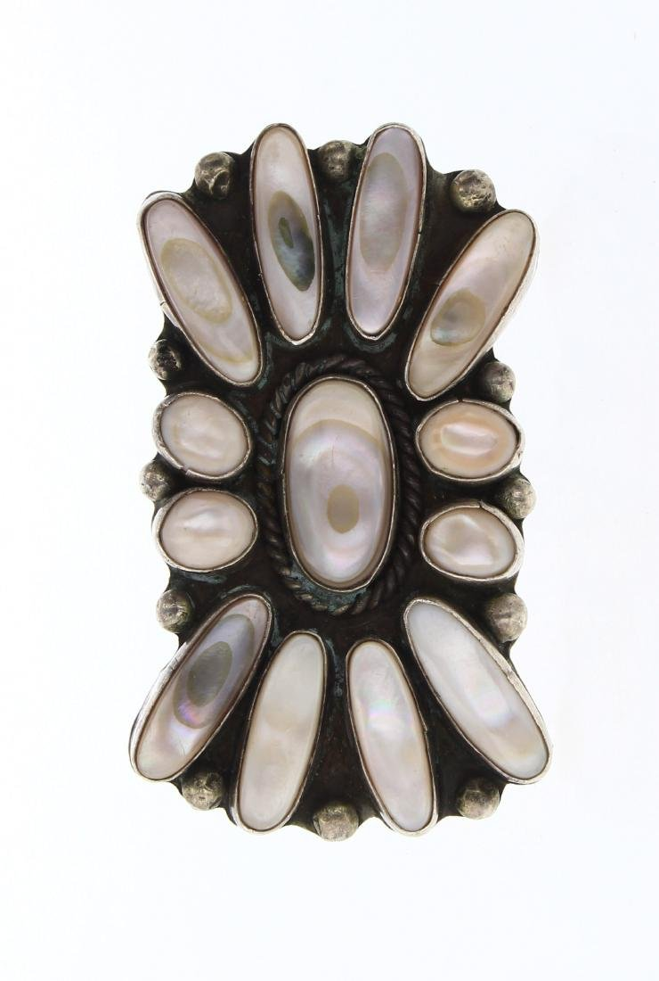 Old Pawn Pink Shell Large Face Ring
