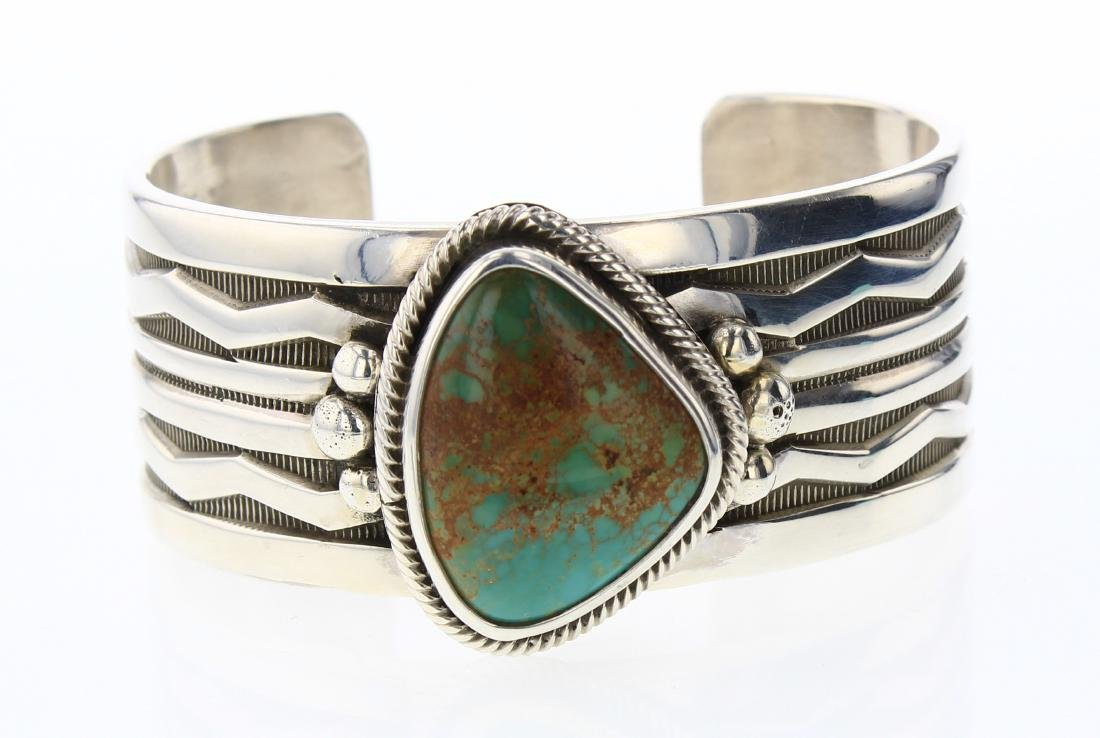 CJH Vintage Turquoise Cuff Bracelet